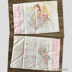 Vtg Disney Princess Pillowcase (1)